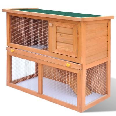 "vidaXL 36"" Wooden Rabbit Hutch Cage Chicken Coop Hen House Pet Animal Cage Run"