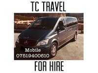 MINIBUS HIRE Weddings, funerals ,airport travel,