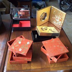 Japanese Bento boxes, Clock & Music Box