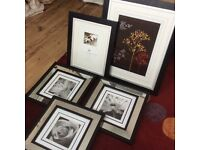 Black and white picture frames and photo frames, never been used
