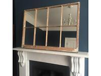 Large window mirror