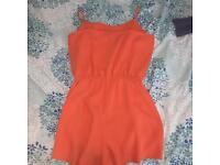 Topshop orange play suit