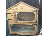 Outdoor Rabbit or Guinea Pig Hutch, two tier