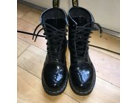 Dr Martens Black Leather (Vegan) Boots Size 6