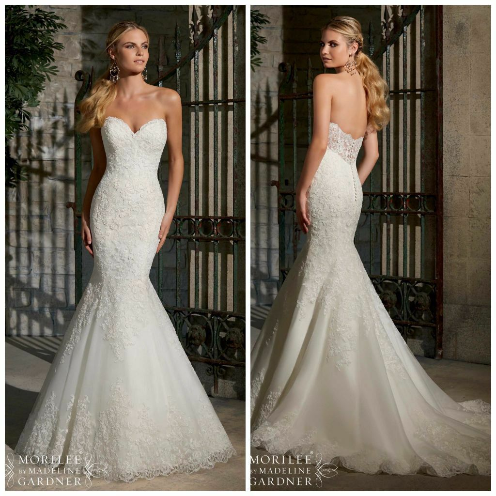 Fishtail Wedding Dress Derby : Stunning mori lee wedding dress for sale ivory lace fishtail