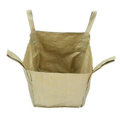 1.5t/ 3300lbs FIBC Bulk Bag Super Sack Waste Storage 3.0x3.0x3.6' w/ 4 Loops
