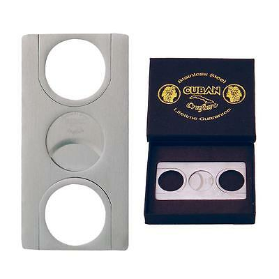 Cuban Crafters - Euro Design Double Guillotine Cigar Cutter - CC01 (Crafters Design)