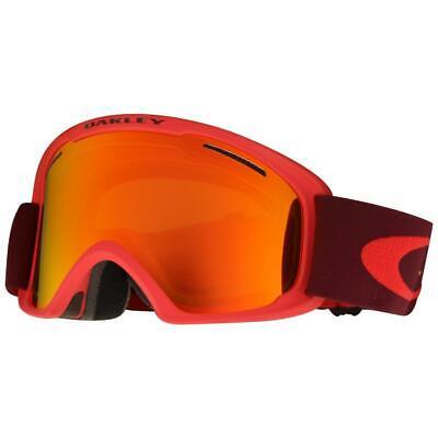 Oakley OO 7045-12 O2 XL Red Rhone w/ Fire Iridium Lens Mens Snow Ski Goggles .