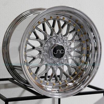 """4-New 17"""" JNC 004 Wheels 17x8.5/17x10 5x100/5x114.3 15/25 Platinum GR Staggered"""