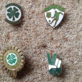 Glasgow Celtic football badges