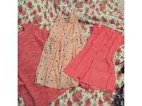 red and pink theme women's 8-10 bundle