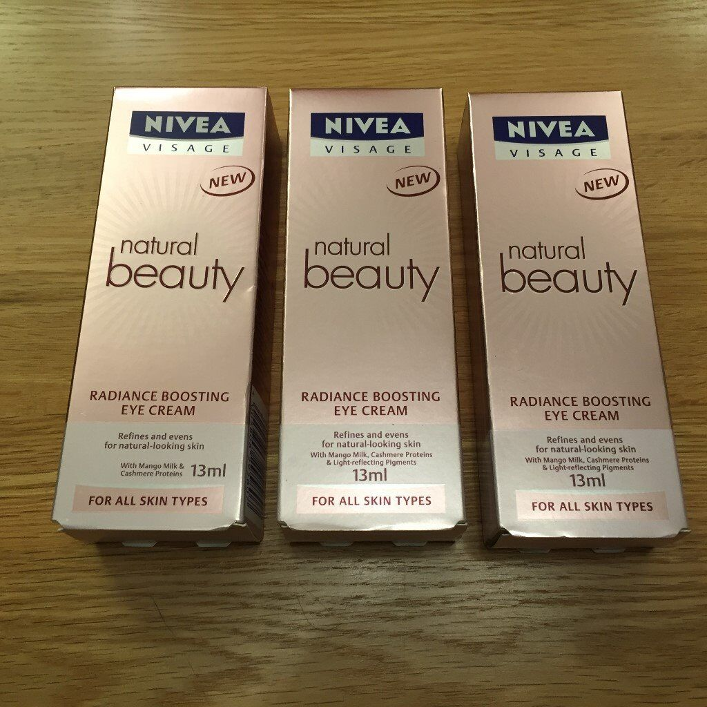 3x NEW Nivea Visage Natural Beauty Eye Cream 13ml - £5 | in Redditch, Worcestershire | Gumtree