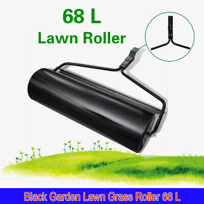68L Iron Garden Lawn Grass Roller Outdoor Sand Water Filled Grass Lawn Roller