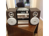 PHILIPS MINI HIFI SYSTEM WITH CD, TAPE DECK, RADIO TUNER