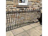 Iron gates 3ft 5inch high x 9ft 3inch wide