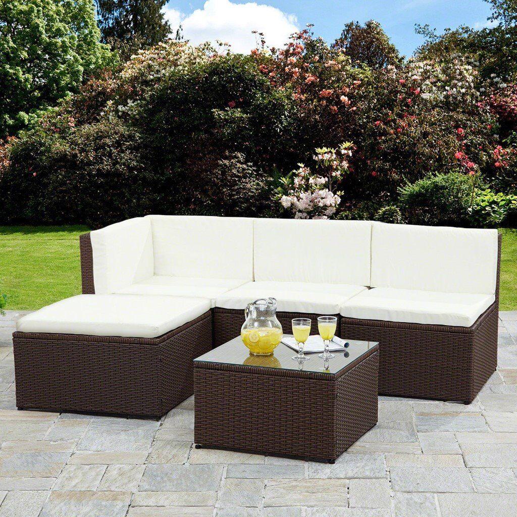 Lovely rattan garden furniture sofa set