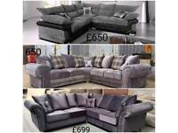 New stylish corner sofas to clear delivery available 07808222995