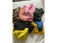 A bundle of size small 6-8 clothes
