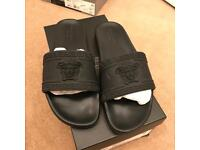 UK 11 Genuine Versace Medusa Rubber Slides