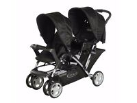 Brand New Graco Stadium Duo Tandem Oxford Double Buggy Pushchair
