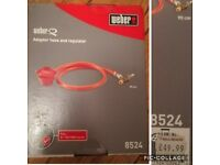 Gas bbq adapter and hose