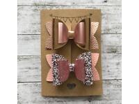 Set of two handmade hair bows. Various designs.