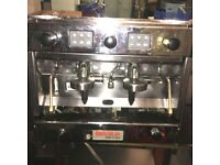 BRASILIA GRADISCA 2 GROUP COMMERCIAL COFFEE MACHINE and GRINDER