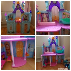 Disney Dream Castle and dolls. Sell as a bundle or separately.