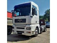 Left hand drive MAN TGA18.430 trailer head / tractor unit.
