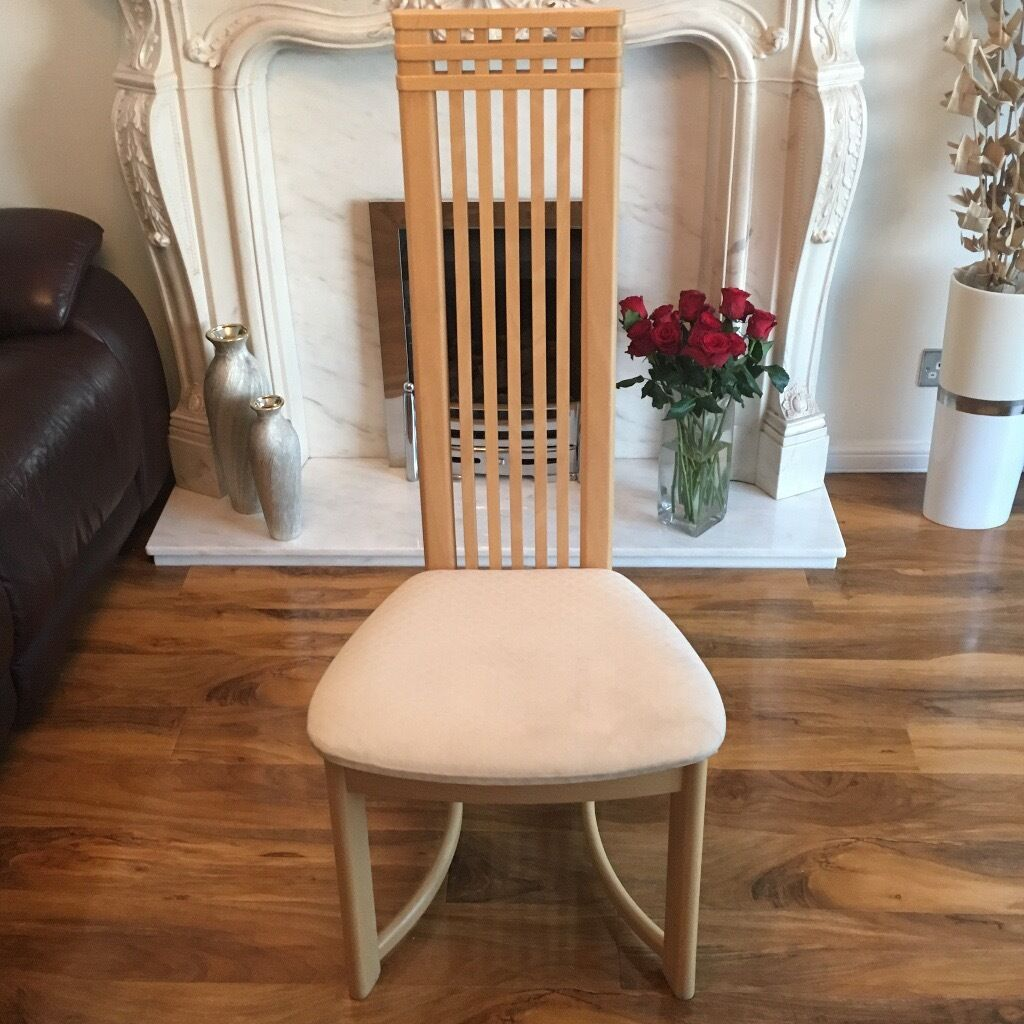 6 charles rennie mackintosh dining chairs in paisley. Black Bedroom Furniture Sets. Home Design Ideas