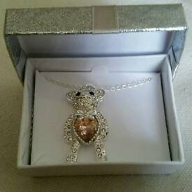 Avon teddy necklace