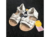 Brand New With Tags Girls Sandals Size 6 Infant