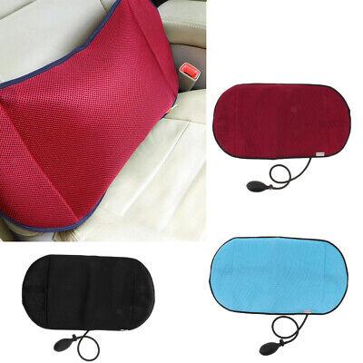 Car Lumbar Support Back Pillow Ergonomic Comfortable Air Inflatable Cushion