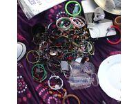 Jewellery lot bracelets rings watches