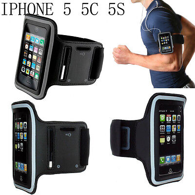 Black Fashion Running Sports GYM Jogging Arm Band Holder For Apple iPhone 5S 5C