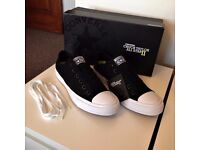 Unisex Black & White Converse Chuck Taylor All Star II Trainers, ADULT SIZE UK 8, Never Worn