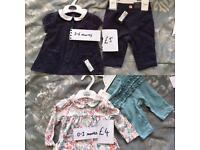 Baby clothes, brand new with tags from 50p (next, m&s, gap etc) see pics for prices