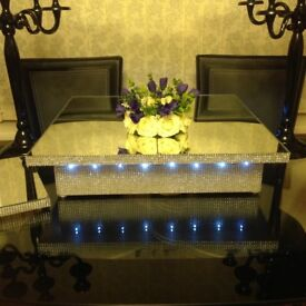 FREE £129 Cake Stand when you buy joblot of 100 mirror plate centre pieces suit large Indian wedding