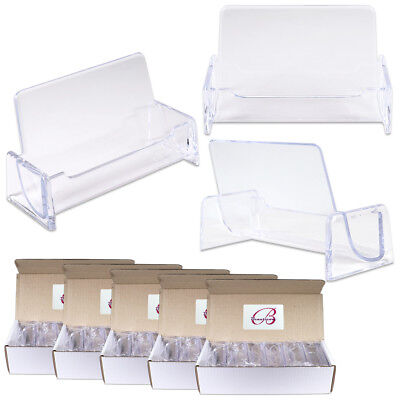 60pcs Clear Acrylic Compartment Desktop Business Card Holder Display Stand
