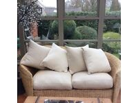 Conservatory 2-seater sofa, chair & table