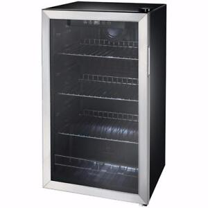 Insignia 115-Can Freestanding Beverage Cooler - Black Model #: NS-BC120SS7