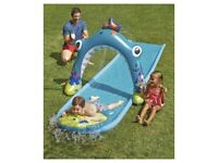 WATERSLIDE SHARK WITH WATER TUNNEL NEW BOXED 500cm X 90cm PLAY FUN GARDEN OUTDOOR CHILDRENS COOL