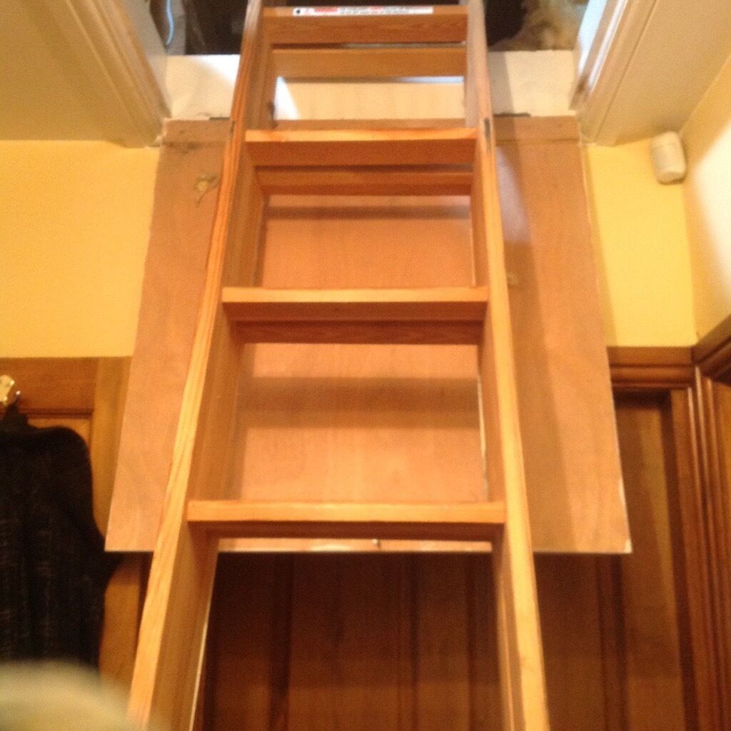 LOFT LADDER IN WOOD FOR SALE EXCELLENT CONDITIONin Batley, West YorkshireGumtree - Quality loft ladder for sale, good working condition. Very stable and strong. Easy pull and push down mechanism and easy to install. Will accept 30.00 Ono