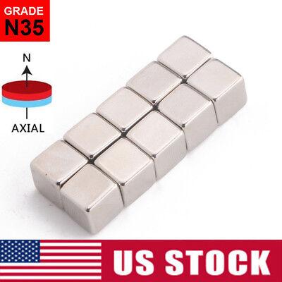10-50pcs N35 Strong Block Square Rare Earth Neodymium Small Magnets 10x10x10mm