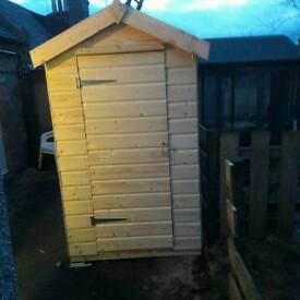 4ft by 6ft Ship lap tongue and groove shed