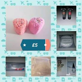 Mens and Ladies Travel Gift Sets including Dove, Colgate, 212, Givenchy, Avon and Lush
