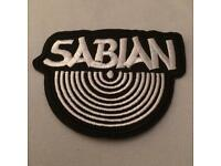 Sabian Embroidered Iron on Patch (BRAND NEW) FREE DELIVERY