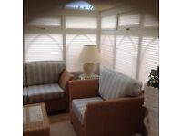 Conservatory furniture 4 piece set sofa two armchairs & glasstop table