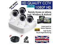 VIEW your HOME or Office REMOTELY on your PHONE - CCTV SECURITY KIT - HD 1080P - 1 DVR / 4 Cameras