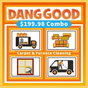 Taking Pride in Your Home! Dang Good Carpet Cleaning and Furnace Cleaning Deal